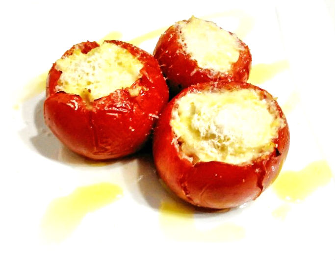 Pomodori e peperoni con pollo al latte