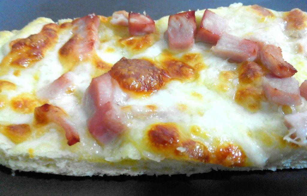 Pizza cotto e mozzarella