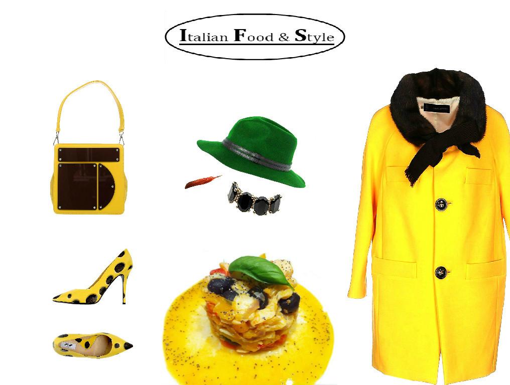 Look giallo italian style