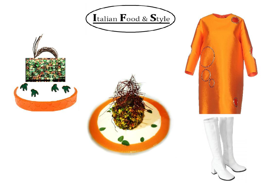 Outfit arancione anni'70