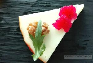 tartina di formaggio